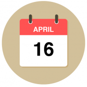April 16 cal icon